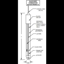 SG901C Výměna Sonda pH Hamilton 238150 s prodloužením životnosti