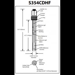 S354CDHF Výměna Sonda pH Hamilton 238522 s prodloužením životnosti